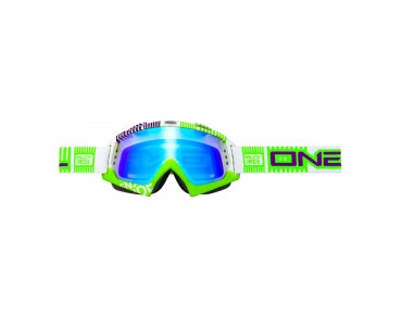 O´NEAL B-FLEX RADIUM Goggle ETR white/green