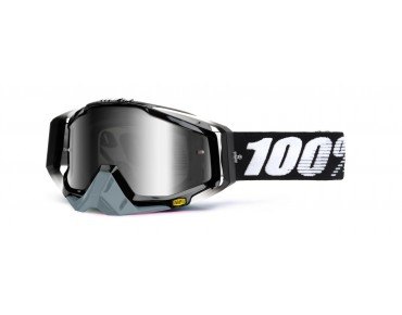 100% RACECRAFT goggles Abyss black/mirror silver