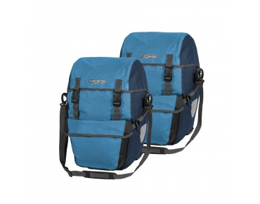 ORTLIEB Bike-Packer Plus set consisting of two pannier bags denim/steel blue