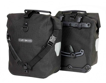 ORTLIEB HIGH VISIBILITY Sport-Roller set of two pannier bags reflective black
