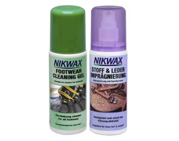 NIKWAX SET Cleaning Gel Fabric & Leather twin pack