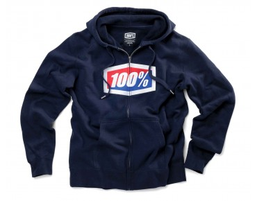 100% OFFICIAL zip hoody navy