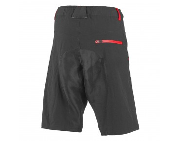 ROSE 2 WAY bike shorts black/red