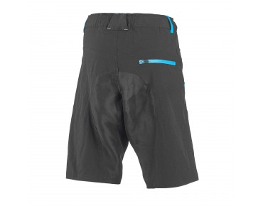 ROSE 2 WAY bike shorts black/sky