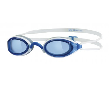 Zoggs Fusion Air swimming goggles white-blue/blue mirror