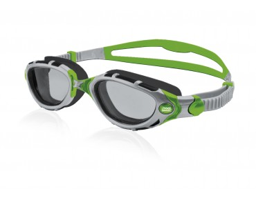 Zoggs Predator Flex Reactor Titanium lime ltd. swimming goggles silver-green/self-tinting lens