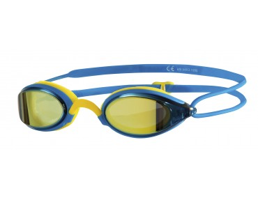 Zoggs Fusion Air Gold Mirror swimming goggles blue-yellow/gold mirrored lens