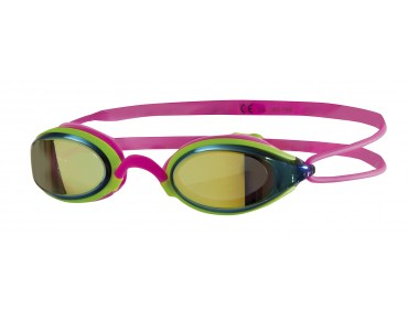 Zoggs Fusion Air Gold Mirror swimming goggles pink-green/gold mirrored lens