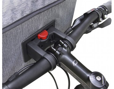 KLICKfix Rixen & Kaul SMART BAG handlebar bag incl. adapter grey