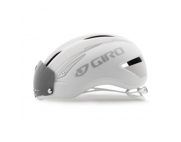 GIRO AIR ATTACK SHIELD aero helmet matte white/silver