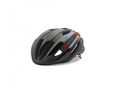 GIRO SYNTHE Rennradhelm matte black/glowing red/blue