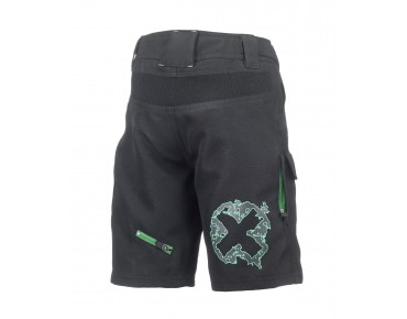 ROSE DOWN KIDS Kinder-Bikeshorts black/green