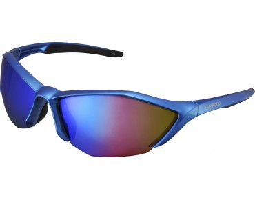 SHIMANO S61R-PL sports glasses metallic blue-black/grey-blue
