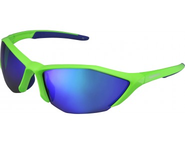 SHIMANO S61R-PL sports glasses day-glo green-blue/grey-green