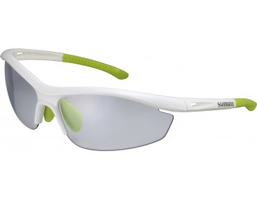 SHIMANO S20R-PH self-tinting sports glasses weißmetallic-hellgrün/grau