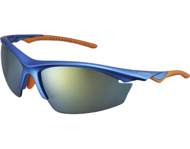 SHIMANO EQUINOX 2 sports glasses metallic blue-orange/grey-orange mirrored