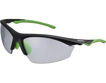 SHIMANO EQUINOX 2 sports glasses matt black-green/green mirrored