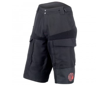 ROSE DOWN Bikeshorts black/red