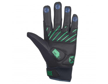 ROSE FR III full-finger gloves black/green/blue