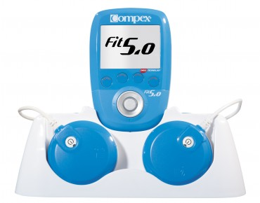 Compex Fit 5.0 wireless muscle stimulator blue