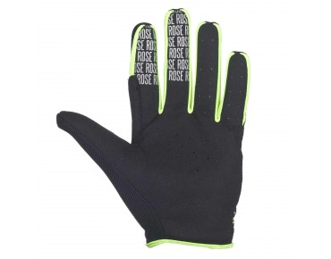 ROSE FR PURE  Langfinger-Handschuhe black/yellow fluo