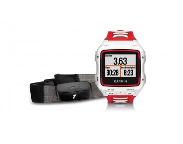 Garmin Forerunner 920XT GPS watch with HRM-Run heart rate chest strap weiß/rot