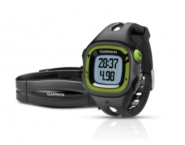 Garmin Forerunner 15 GPS watch with heart rate chest strap schwarz/grün