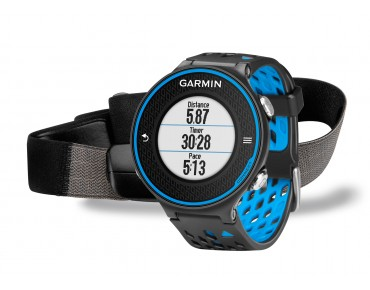 Garmin Forerunner 620 GPS watch with heart rate chest strap schwarz/blau