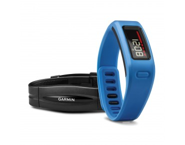 Garmin vívofit activity tracker bundle with heart rate chest strap blau