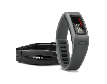 Garmin vívofit Fitness-Armband Bundle mit Herzfrequenz-Brustgurt grau