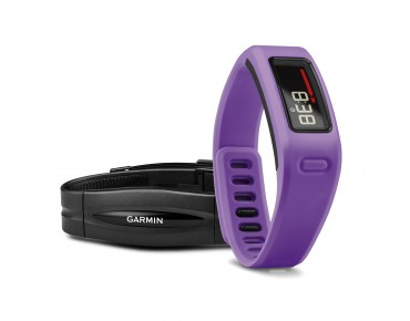 Garmin vívofit Fitness-Armband Bundle mit Herzfrequenz-Brustgurt lila
