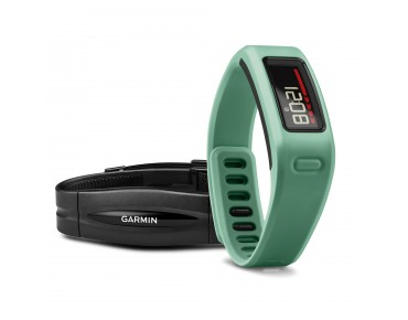 Garmin vívofit activity tracker bundle with heart rate chest strap türkis