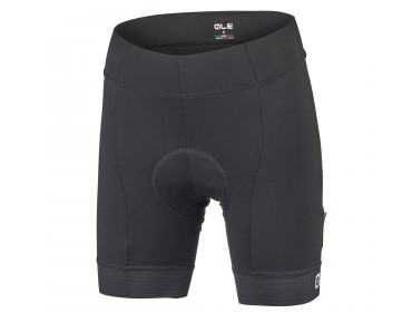 ALÉ PLUS DONNA women's cycling shorts black/white