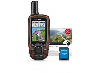 Garmin GPSMAP64s navigation device bundle incl. Topo TransAlpin V4 Pro black