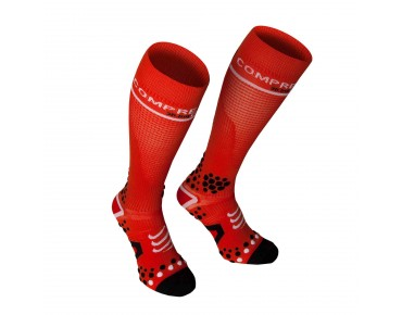 COMPRESSPORT V2 FULL 3D DOT compression socks red