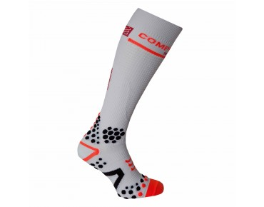 COMPRESSPORT V2 FULL 3D DOT compression socks white
