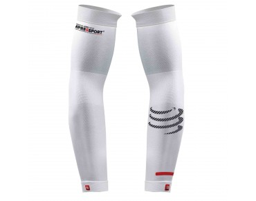 COMPRESSPORT PRO RACING WATCH SPACE compression arm sleeves white