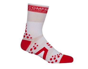 COMPRESSPORT PRO RACING BIKE Socken white/red