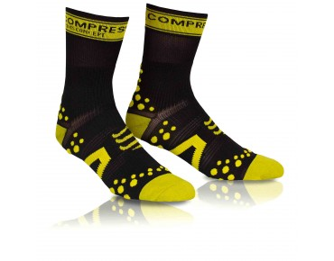 COMPRESSPORT PRO RACING BIKE Socken black/yellow