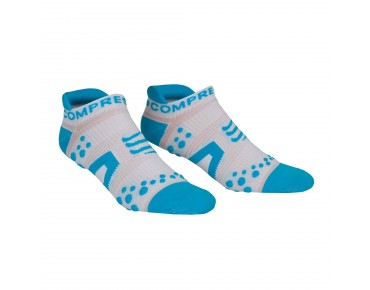 COMPRESSPORT PRO RACING LOW CUT socks white/blue