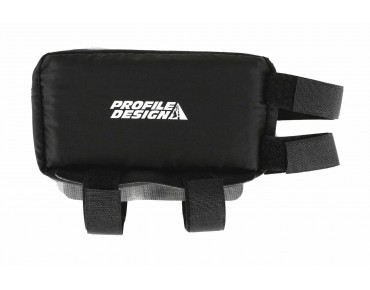 Profile Nylon Zipper E-Pack top tube bag schwarz