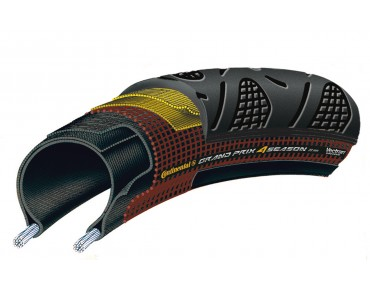 Continental Grand Prix 4-Season road tyre, folding tyre schw/schw.
