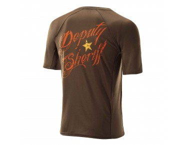 Deputy Sheriff WANTED bike shirt brown