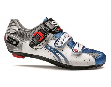 SIDI GENIUS 5 FIT Rennradschuhe steel/white/blue