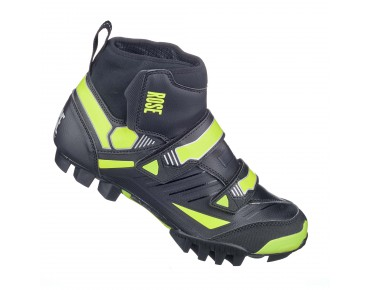 ROSE RWS 03 winter MTB shoes black/lime