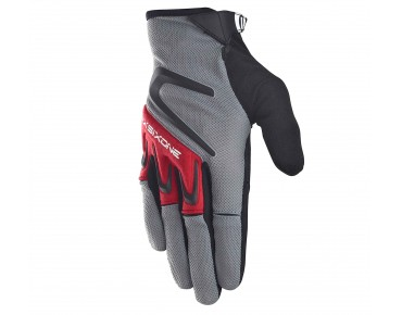 SIXSIXONE RAGE full finger gloves gray/red