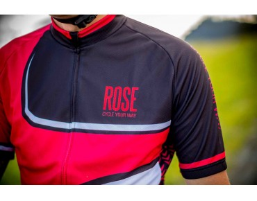 ROSE RETRO jersey red/black/white