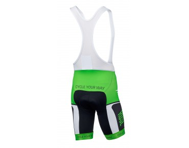 ROSE RETRO bib shorts green/black/white