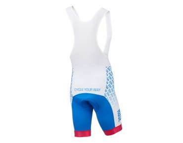 ROSE HIGH END bib shorts blue/white/red