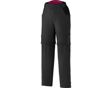 SHIMANO TOURING women's zip-off trousers black